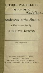 Cover of: Bombastes in the shades