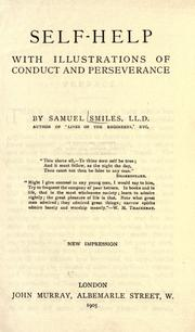 Cover of: Self-help with illustrations of conduct and perseverance