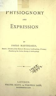 Physiognomy and expression by Paolo Mantegazza