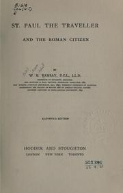 Cover of: St. Paul the traveler and the Roman citizen