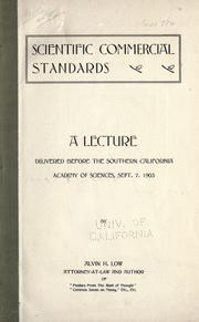 Cover of: Scientific commercial standards