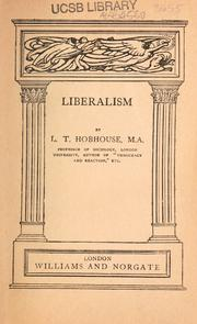 Liberalism by L. T. Hobhouse