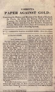 Cover of: Paper against gold