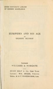 Euripides and his age by Murray, Gilbert