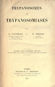 Cover of: Trypanosomes et trypanosomiases
