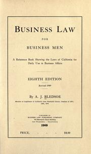 Cover of: Business law for business men