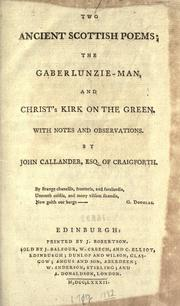 Cover of: Two ancient Scottish poems | King of Scotland James I