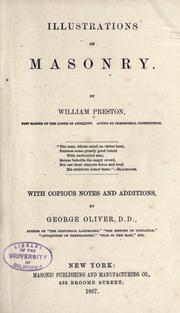 Illustrations of masonry by Preston, William