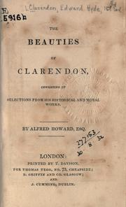 Cover of: The beauties of Clarendon