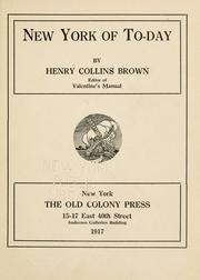 Cover of: New York of to-day