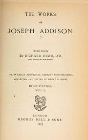 Cover of: The works of Joseph Addison