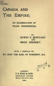 Cover of: Canada and the Empire