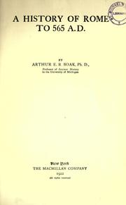 Cover of: A history of Rome to 565