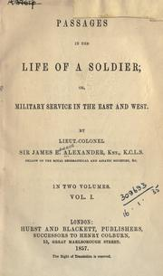 Cover of: Passages in the life of a soldier