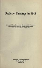 Cover of: Railway earnings in 1918