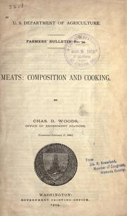 Cover of: Meats