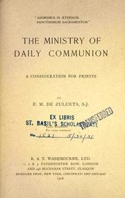 Cover of: The ministry of daily communion |