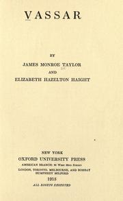 Vassar by James Monroe Taylor