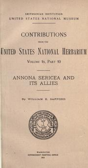 Cover of: Annona sericea and its allies