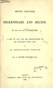 Cover of: Seven lectures on Shakespeare and Milton