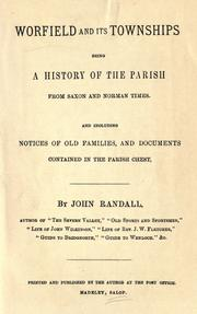 Cover of: Worfield and its townships by Randall, John