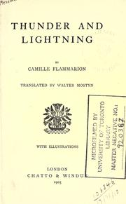 Cover of: Thunder and lightning
