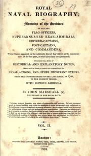 Cover of: Royal naval biography