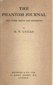 Cover of: The phantom journal and other essays and diversions