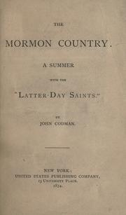 Cover of: The Mormon country