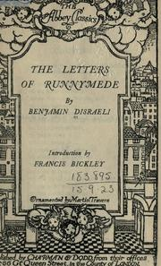 Cover of: The letters of Runnymede