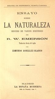 Cover of: Ensayo sobre la naturaleza by Ralph Waldo Emerson