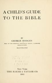 Cover of: A child's guide to the Bible