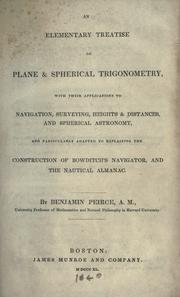 Cover of: An elementary treatise on plane & spherical trigonometry