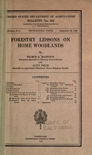 Cover of: Forestry lessons on home woodlands