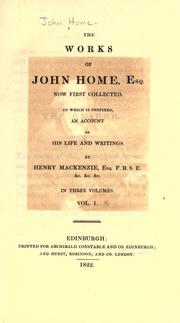 Cover of: The works of John Home, esq