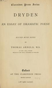 an essay of dramatic poesy edition open library cover of an essay of dramatic poesy by john dryden
