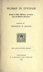Cover of: Woman in epigram