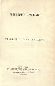 Cover of: Thirty poems