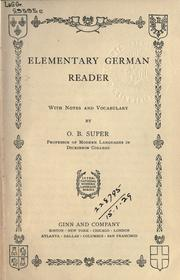 Cover of: Elementary German reader