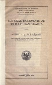 Cover of: National monuments as wild-life sanctuaries