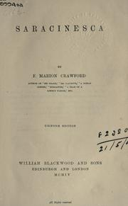 Saracinesca,availibility and cost by Francis Marion Crawford
