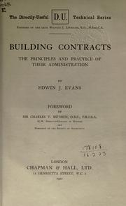 Cover of: Building contracts