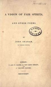 Cover of: A vision of fair spirits, and other poems