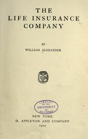 Cover of: The life insurance company