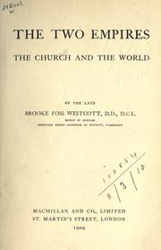 Cover of: The two empires: the Church and the World