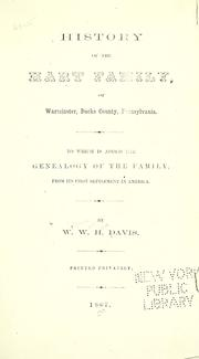 Cover of: History of the Hart family, of Warminster, Bucks county, Pennsylvania
