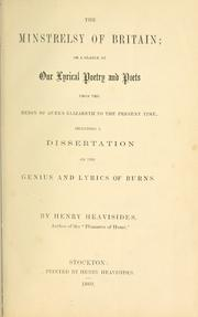 Cover of: The minstrelsy of Britain; or, A glance at our lyrical poetry and poets