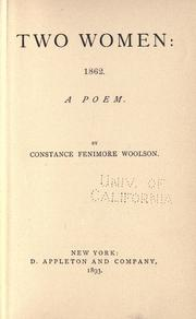 Cover of: Two women: 1862