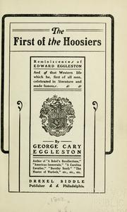 Cover of: The first of the Hoosiers