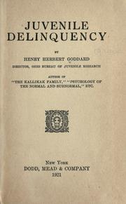 Cover of: Juvenile delinquency